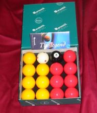 "ARAMITH PREMIER TOURNAMENT 2"" RED & YELLOW POOL BALLS PRO CUP ADDITION BRAND NEW - 302387551481"